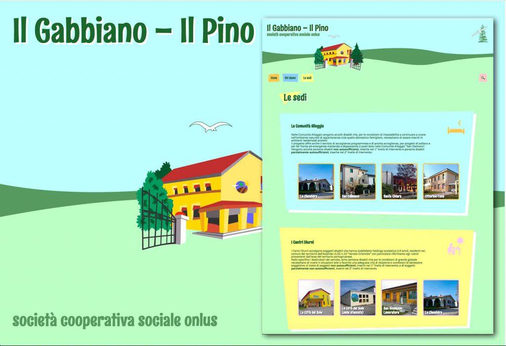 screenshot del nuovo sito web